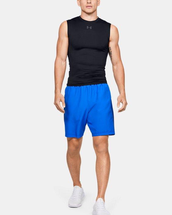 Men's HeatGear® Armour Sleeveless Compression, Black, pdpMainDesktop image number 1