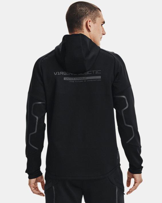 Men's UA + Virgin Galactic RECOVER™ Ponte Hoodie, Black, pdpMainDesktop image number 2