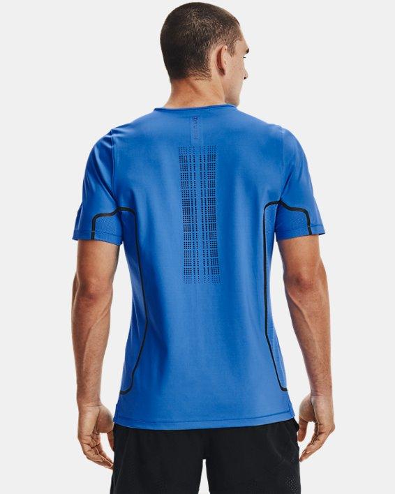 Men's UA + Virgin Galactic RUSH™ Short Sleeve, Blue, pdpMainDesktop image number 2