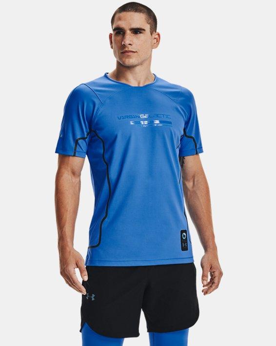 Men's UA + Virgin Galactic RUSH™ Short Sleeve, Blue, pdpMainDesktop image number 1