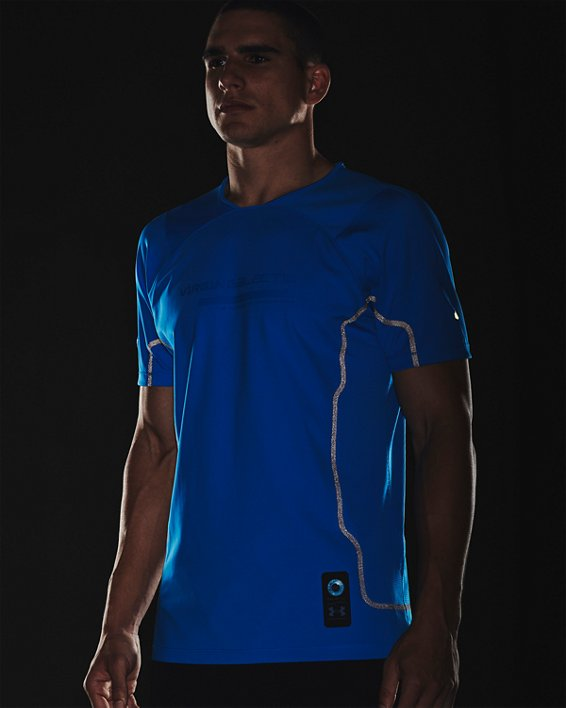 Men's UA + Virgin Galactic RUSH™ Short Sleeve, Blue, pdpMainDesktop image number 7
