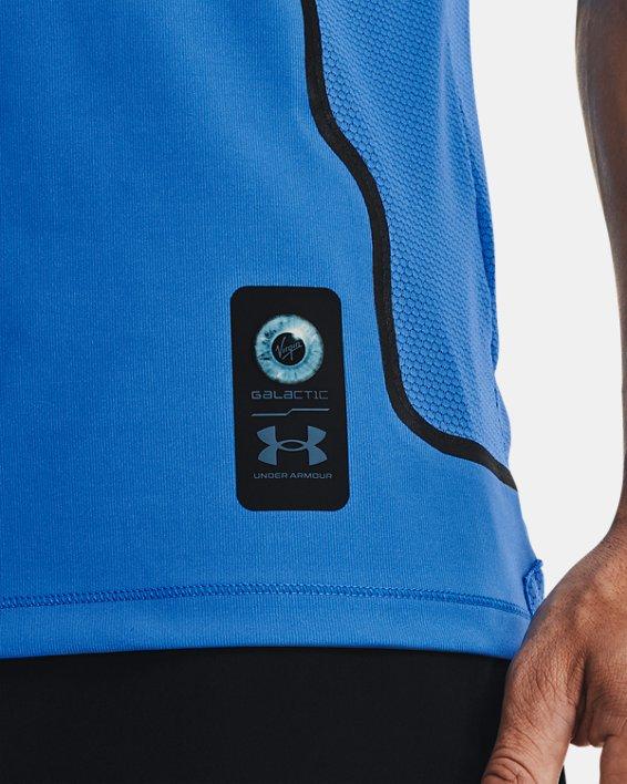 Men's UA + Virgin Galactic RUSH™ Short Sleeve, Blue, pdpMainDesktop image number 3