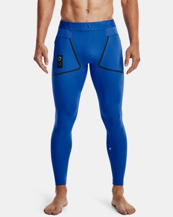 Men's UA + Virgin Galactic RUSH™ Leggings, Blue, pdpMainDesktop image number 1