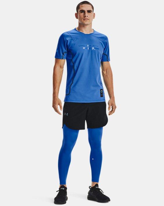Men's UA + Virgin Galactic RUSH™ Leggings, Blue, pdpMainDesktop image number 0