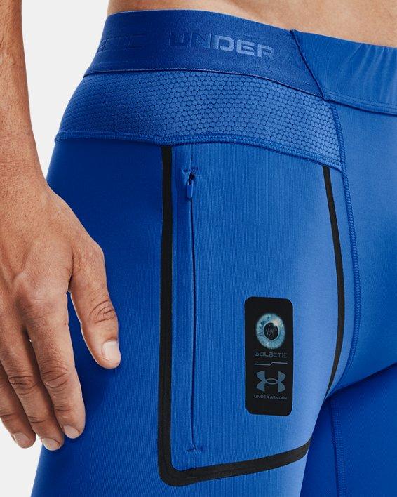 Men's UA + Virgin Galactic RUSH™ Leggings, Blue, pdpMainDesktop image number 3