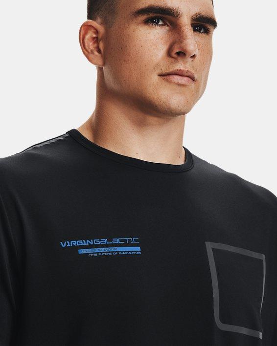 Men's UA + Virgin Galactic Pocket Short Sleeve, Black, pdpMainDesktop image number 7