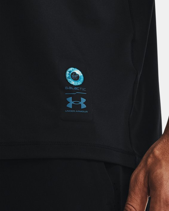 Men's UA + Virgin Galactic Pocket Short Sleeve, Black, pdpMainDesktop image number 3
