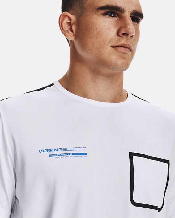 Men's UA + Virgin Galactic Pocket Short Sleeve, White, pdpMainDesktop image number 6