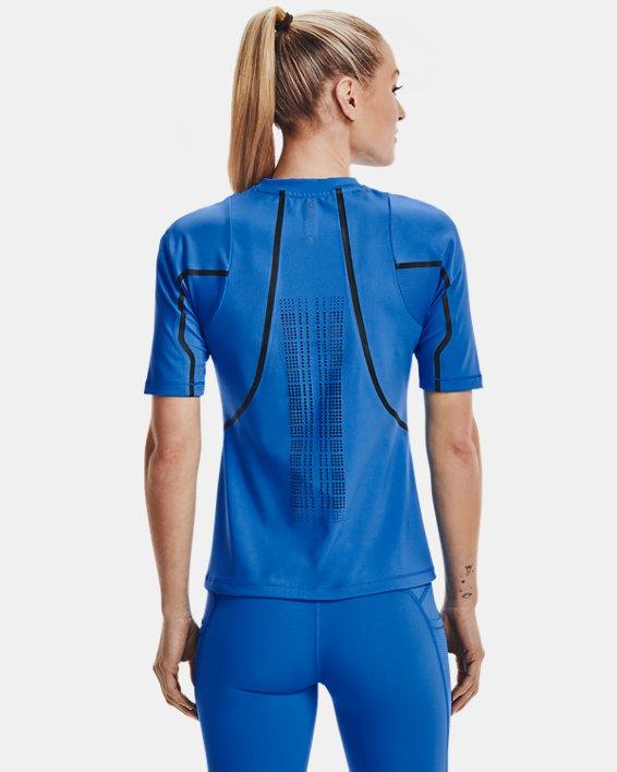Women's UA + Virgin Galactic RUSH™ Short Sleeve, Blue, pdpMainDesktop image number 2