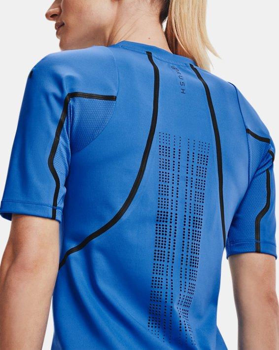 Women's UA + Virgin Galactic RUSH™ Short Sleeve, Blue, pdpMainDesktop image number 6