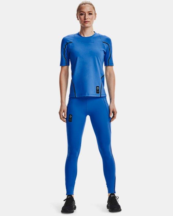 Women's UA + Virgin Galactic RUSH™ Short Sleeve, Blue, pdpMainDesktop image number 0