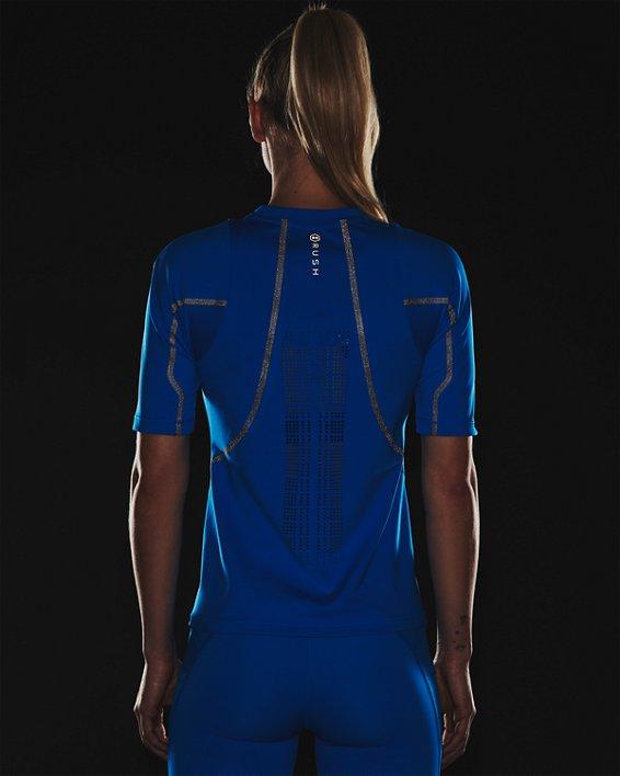Women's UA + Virgin Galactic RUSH™ Short Sleeve, Blue, pdpMainDesktop image number 7