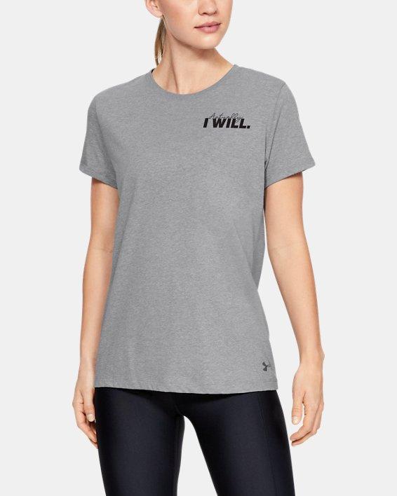 Women's UA Actually I Will Short Sleeve, Gray, pdpMainDesktop image number 0