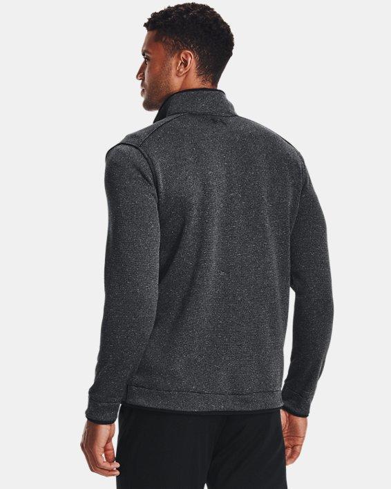 Men's UA Storm SweaterFleece ½ Zip, Black, pdpMainDesktop image number 1
