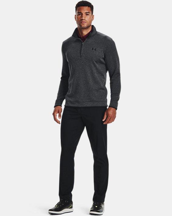 Men's UA Storm SweaterFleece ½ Zip, Black, pdpMainDesktop image number 3
