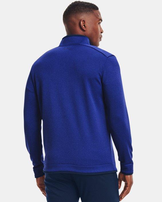 Men's UA Storm SweaterFleece ½ Zip, Blue, pdpMainDesktop image number 1