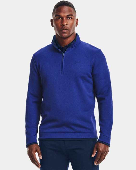 Men's UA Storm SweaterFleece ½ Zip, Blue, pdpMainDesktop image number 0