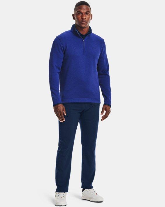 Men's UA Storm SweaterFleece ½ Zip, Blue, pdpMainDesktop image number 2