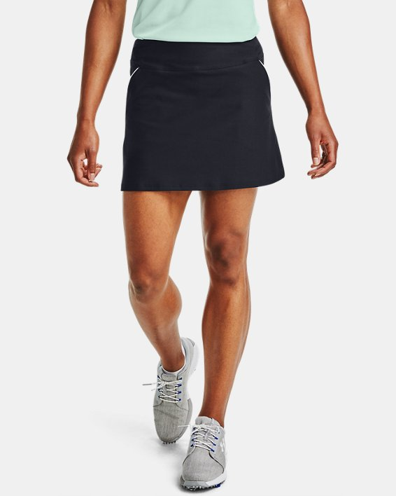 Women's UA Links Knit Skort, Black, pdpMainDesktop image number 2