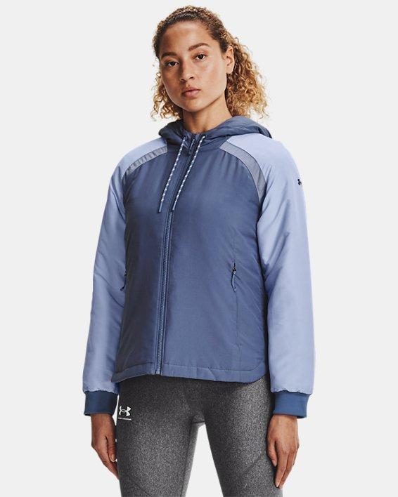 Women's UA Sky Insulate Jacket, Blue, pdpMainDesktop image number 1