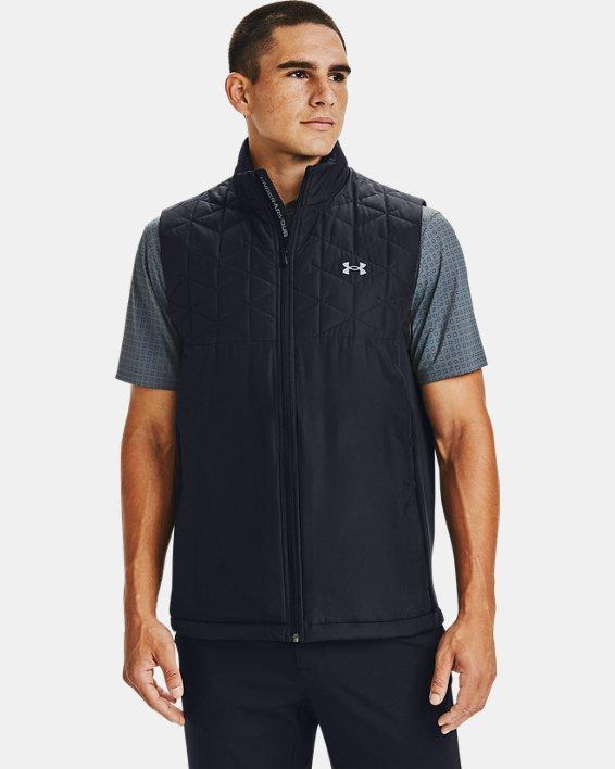 Men's ColdGear® Reactor Golf Hybrid Vest, Black, pdpMainDesktop image number 0