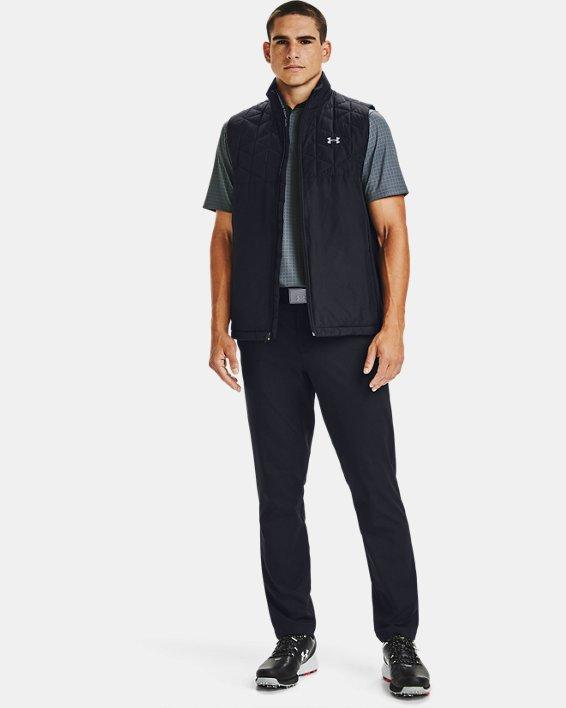 Men's ColdGear® Reactor Golf Hybrid Vest, Black, pdpMainDesktop image number 1