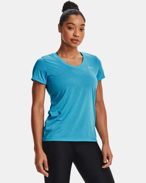 Women's UA Tech™ Bubble Heather Short Sleeve V-Neck