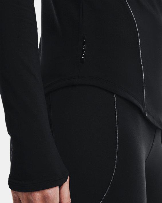 Women's UA HydraFuse Crew Long Sleeve, Black, pdpMainDesktop image number 6