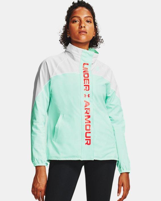 Women's UA RECOVER™ Woven CB Jacket, White, pdpMainDesktop image number 2