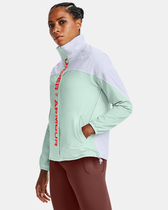 Women's UA RECOVER™ Woven CB Jacket, White, pdpMainDesktop image number 0