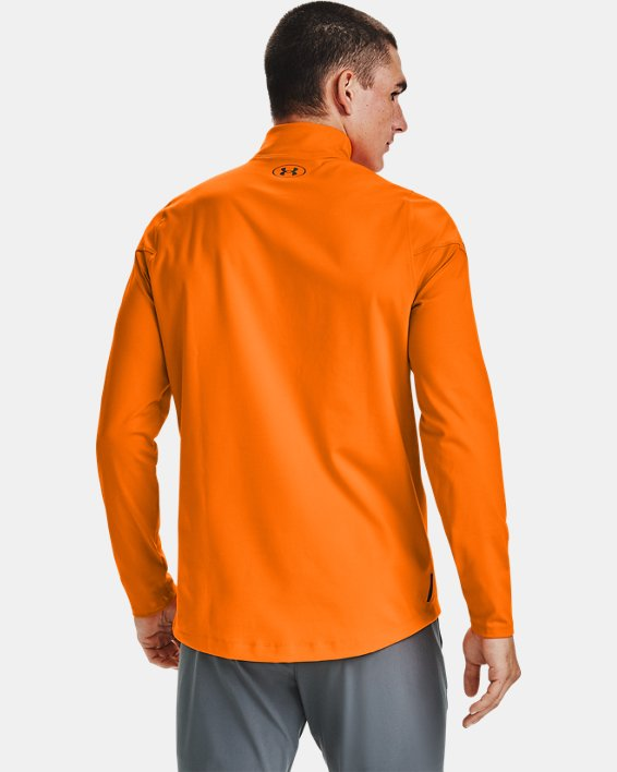 Baselayer à col montant UA RUSH™ ColdGear® 2.0 pour homme, Orange, pdpMainDesktop image number 2