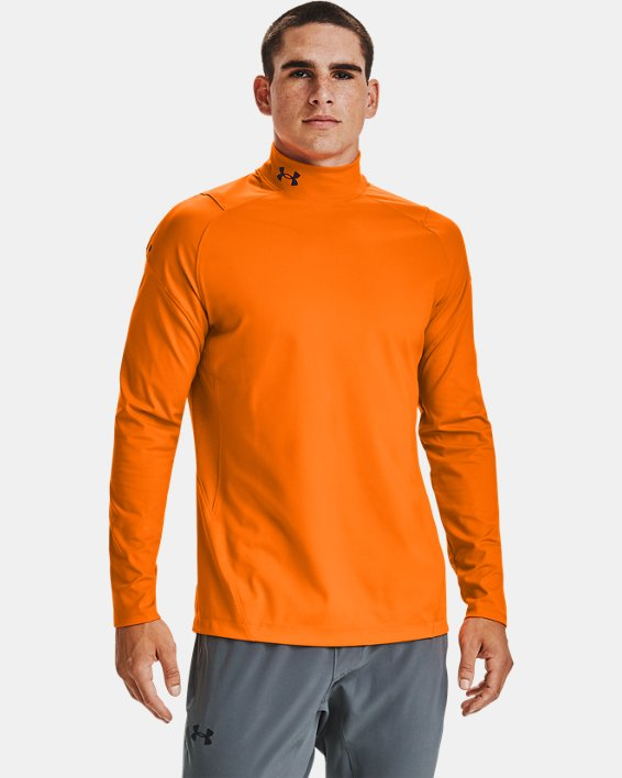 Baselayer à col montant UA RUSH™ ColdGear® 2.0 pour homme, Orange, pdpMainDesktop image number 0