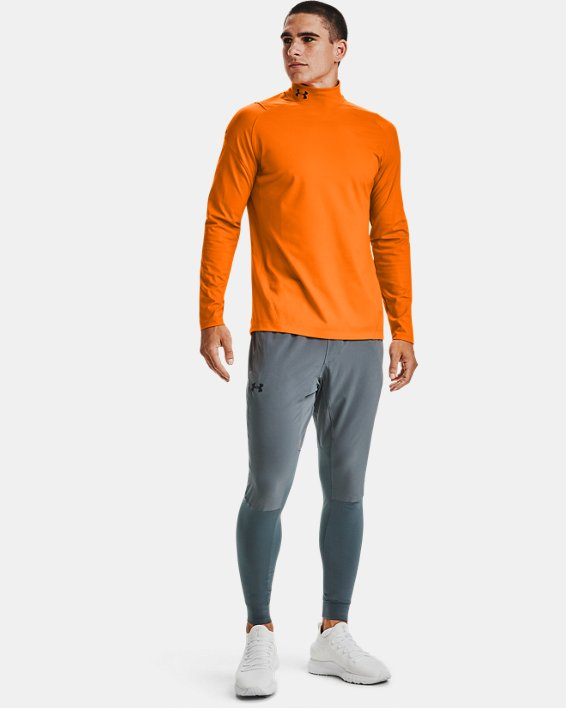 Baselayer à col montant UA RUSH™ ColdGear® 2.0 pour homme, Orange, pdpMainDesktop image number 1