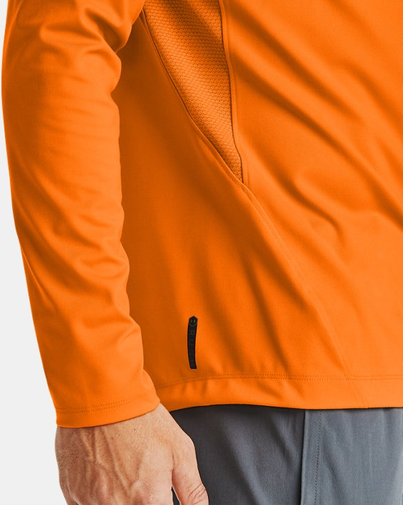 Baselayer à col montant UA RUSH™ ColdGear® 2.0 pour homme, Orange, pdpMainDesktop image number 3