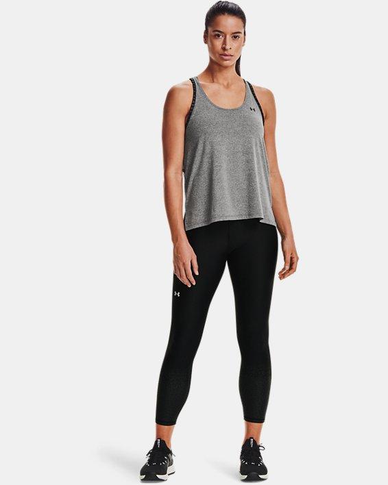 Camiseta sin mangas UA Knockout Mesh para mujer, Gray, pdpMainDesktop image number 2