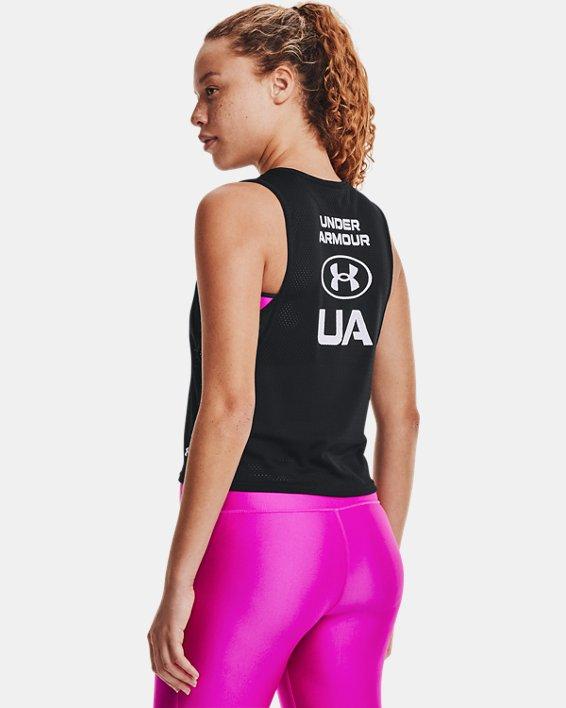 Damen HeatGear® Armour Muskelshirt aus Netzstoff, Black, pdpMainDesktop image number 0