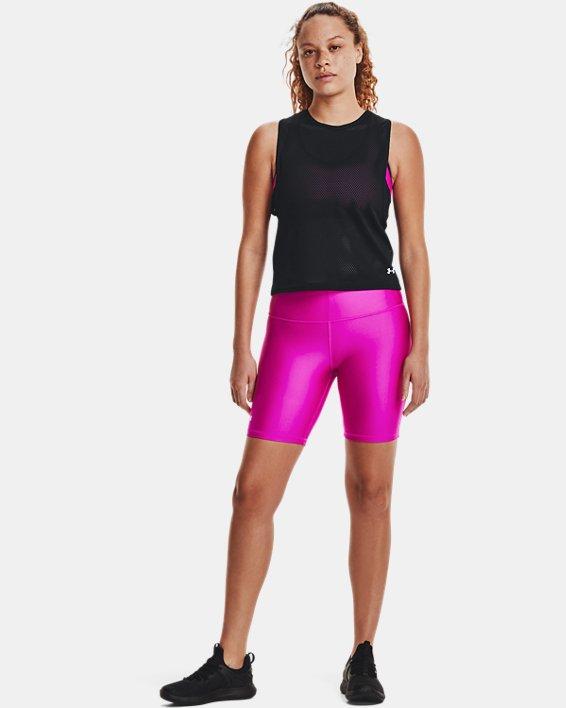Damen HeatGear® Armour Muskelshirt aus Netzstoff, Black, pdpMainDesktop image number 1
