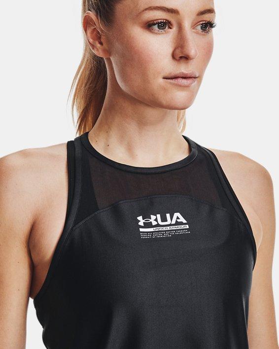 Women's UA Iso-Chill Tank, Black, pdpMainDesktop image number 7