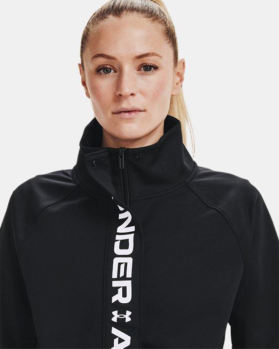 Veste en tricot UA RECOVER™ pour femme, Black, pdpMainDesktop image number 6