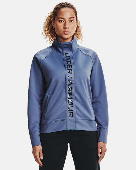 Chaqueta UA RECOVER™ Tricot para mujer, Blue, pdpMainDesktop image number 1