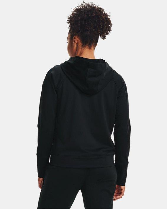 Women's UA Tricot Jacket, Black, pdpMainDesktop image number 2