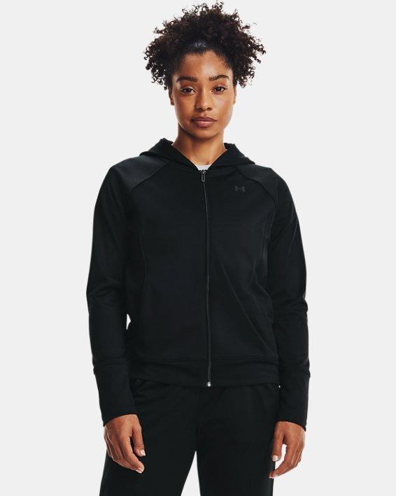 Women's UA Tricot Jacket, Black, pdpMainDesktop image number 1
