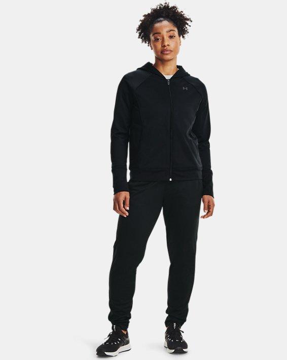 Women's UA Tricot Jacket, Black, pdpMainDesktop image number 0