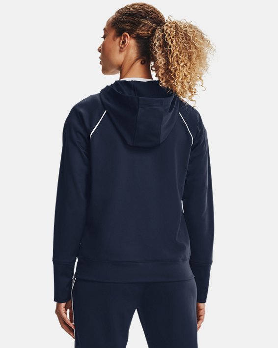 Women's UA Tricot Jacket, Navy, pdpMainDesktop image number 2
