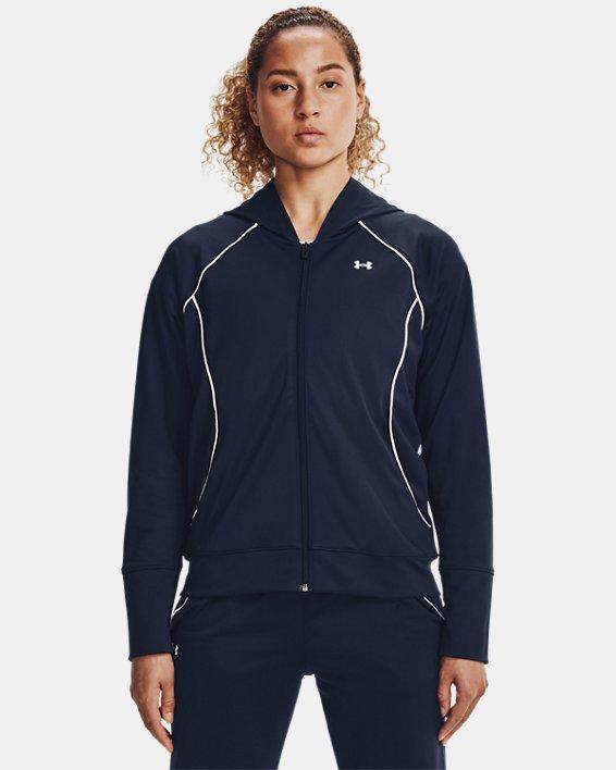 Women's UA Tricot Jacket, Navy, pdpMainDesktop image number 1
