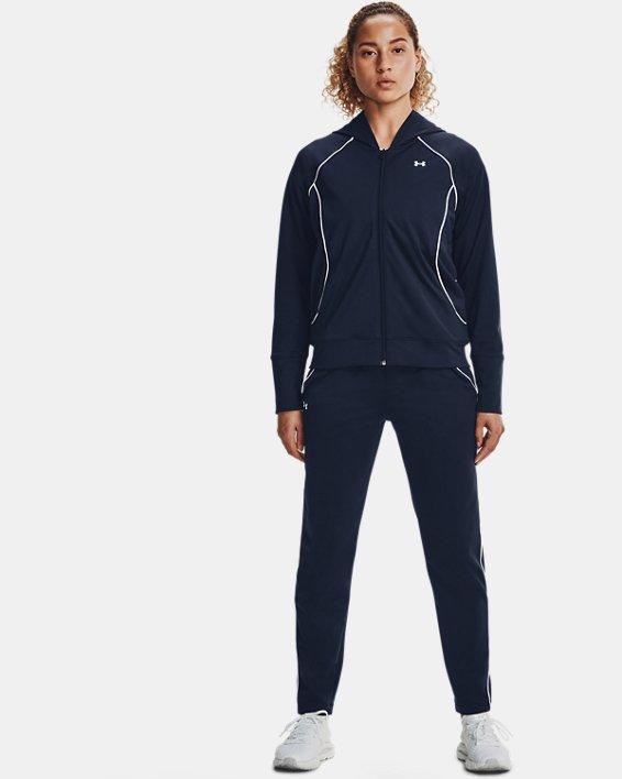 Women's UA Tricot Jacket, Navy, pdpMainDesktop image number 0
