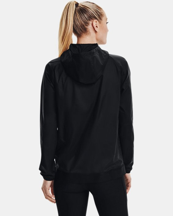 Women's UA Woven Reversible Full Zip, Black, pdpMainDesktop image number 2