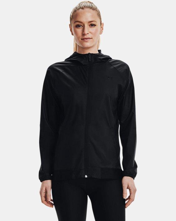 Women's UA Woven Reversible Full Zip, Black, pdpMainDesktop image number 1