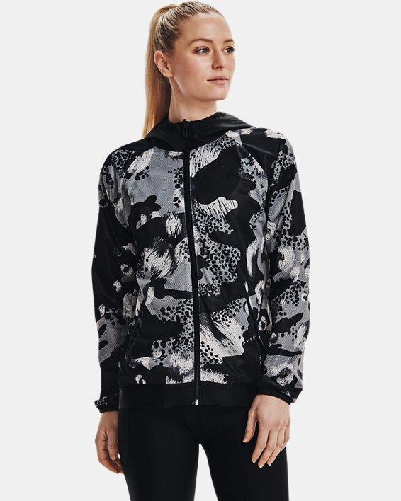 Women's UA Woven Reversible Full Zip, Black, pdpMainDesktop image number 5