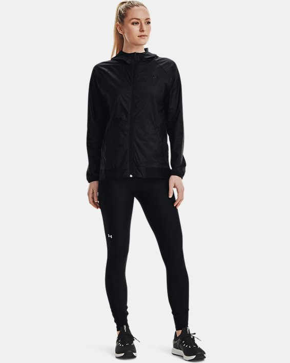 Women's UA Woven Reversible Full Zip, Black, pdpMainDesktop image number 0